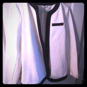 Black and white suit jacket